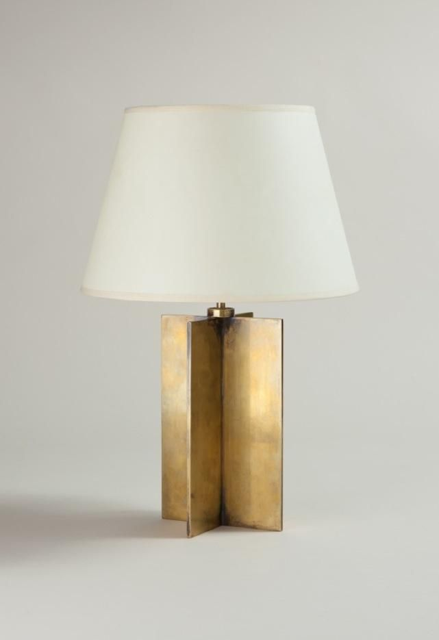 Jean michel frank bronze croisillon table lamp c1928