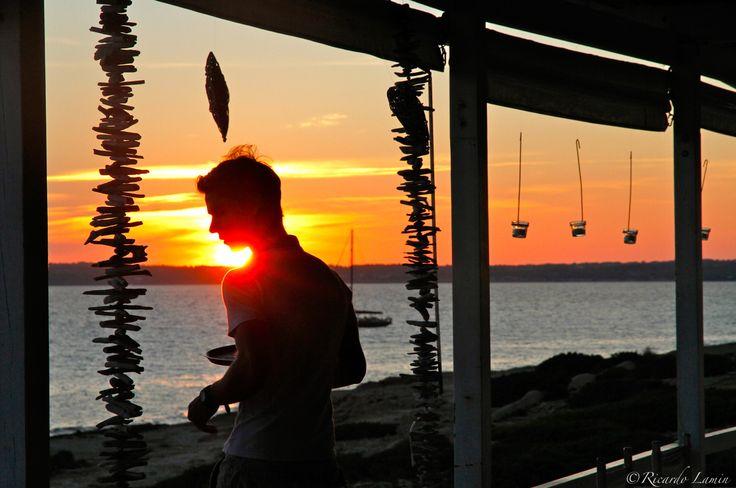 Sunset at 10punto7 Formentera