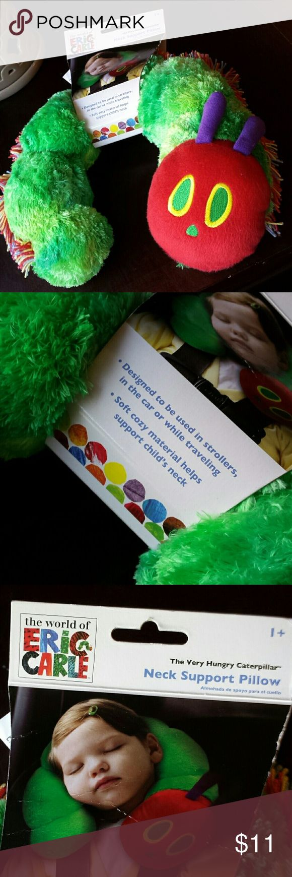 """Neck Support Pillow """"The Very Hungry Caterpillar"""" Its so soft and cozy. The colors are super vibrant! New never used. New!! Eric Carle Other"""