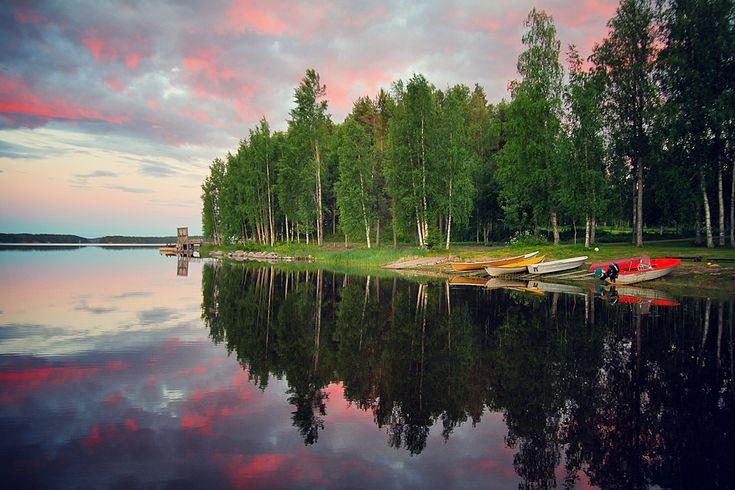 Paalasmaa Island, Lake Pielinen, Karelia, Finland.