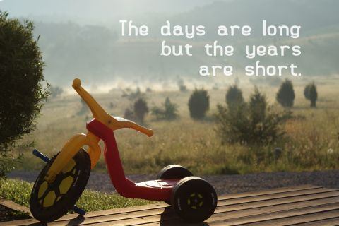 The days are long, but the years are short.