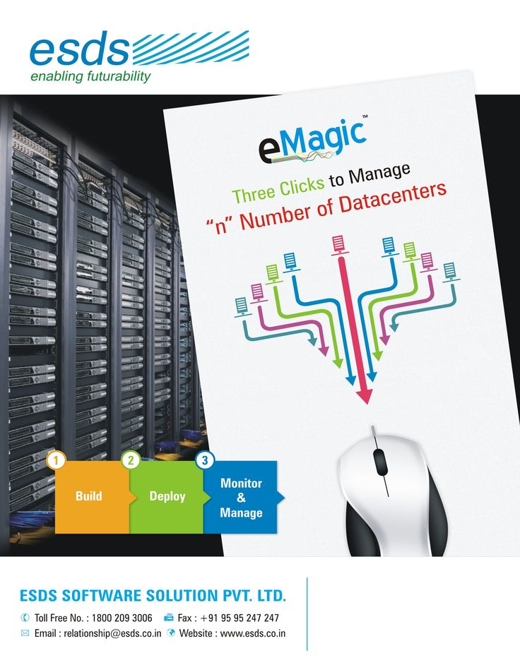 Manage your #IT infrastructure with ESDS #eMagic #DCIM tool.