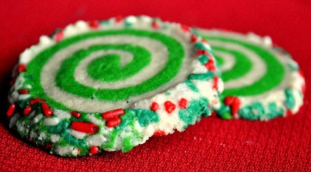 Colorful Slice and Bake Swirl Cookies