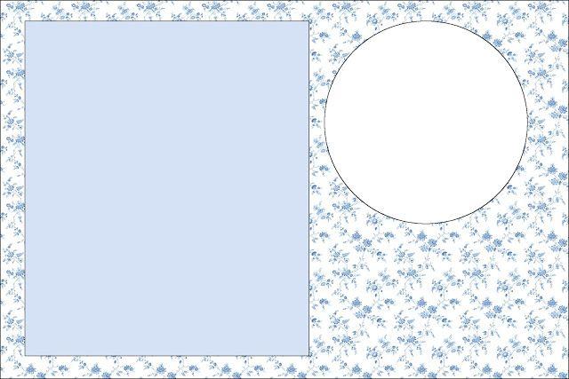 Azul com Flores Provençal - Kit Completo com molduras para convites, rótulos para guloseimas, lembrancinhas e imagens! - Fazendo a Nossa Festa