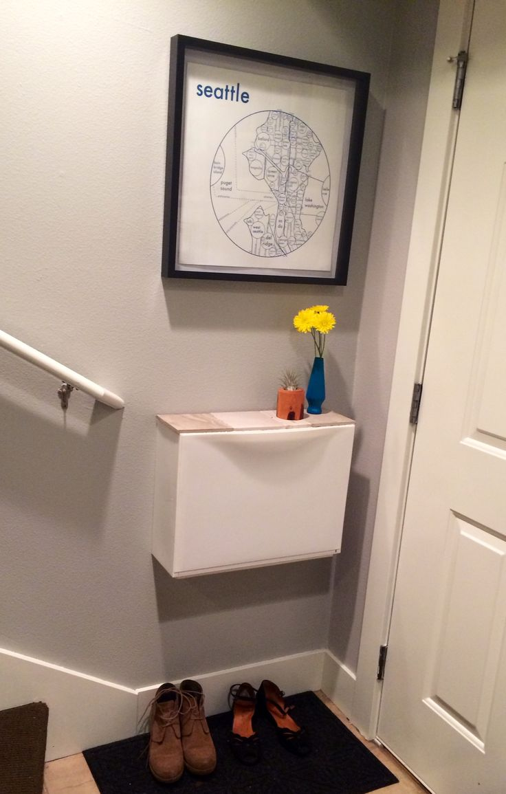 Gave my Ikea Trones cabinet a top out of tile samples. Full-view photo. #trones