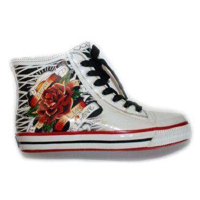 Ed Hardy Harrison Rain Shoe For Women- White,$34.00