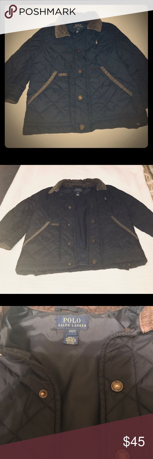 Boys 2t polo jacket. Adorable little boys polo jacket, worn twice, excellent condition, perfect for cold weather. My son wore it when he was 2 and again when he was 3. Polo by Ralph Lauren Jackets & Coats