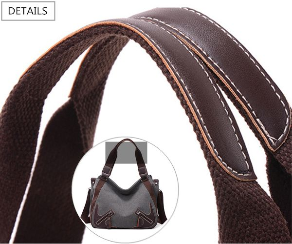 Women Durable Canvas Large Capactiy Handbag Casual Shoulder Bags Crossbody Bag