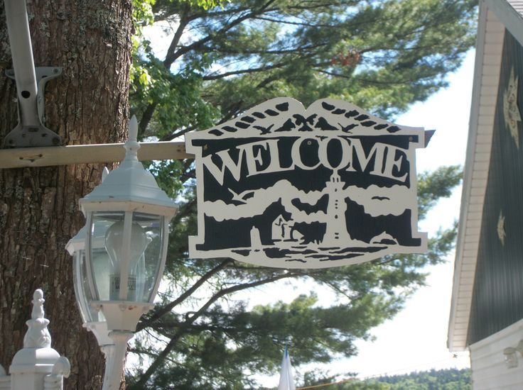 Welcome Sign Made With My Scroll Saw Things I Painted