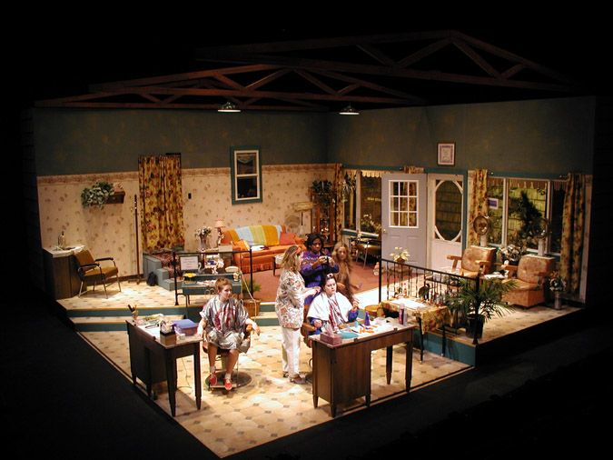 This Would Be The Basic Layout Of The Set, And Because Steel Magnolias Is  Climatic