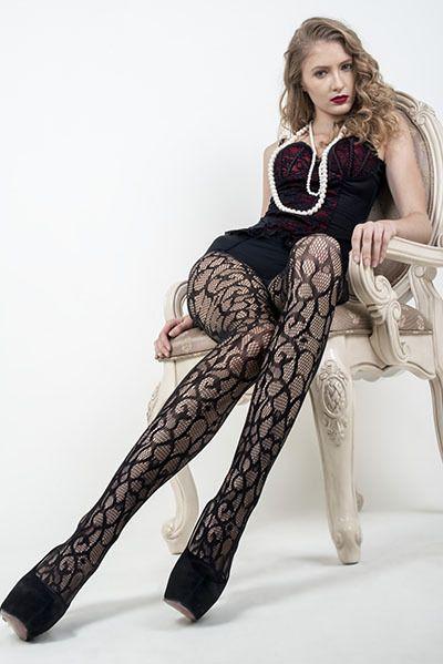 AOneBeauty.com - Killer Legs Fishnet Pantyhose - Enchanted Art Deco
