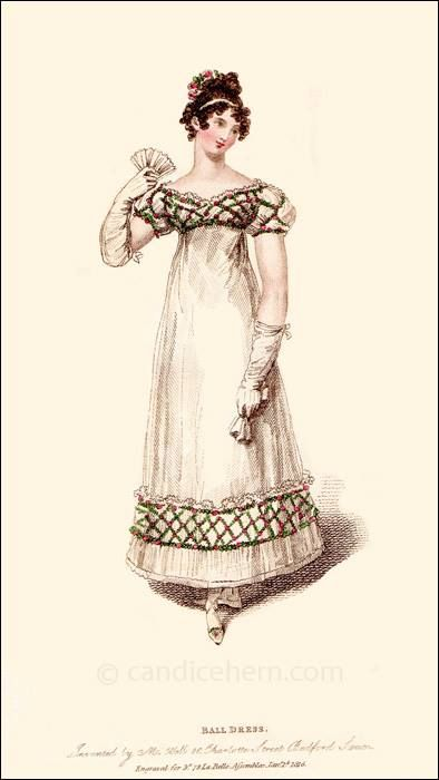 Ackerman's repository of Arts, january 1816- Christmas festival dress