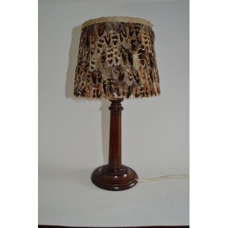 Small Hen Pheasant Feather Lampshade - £45