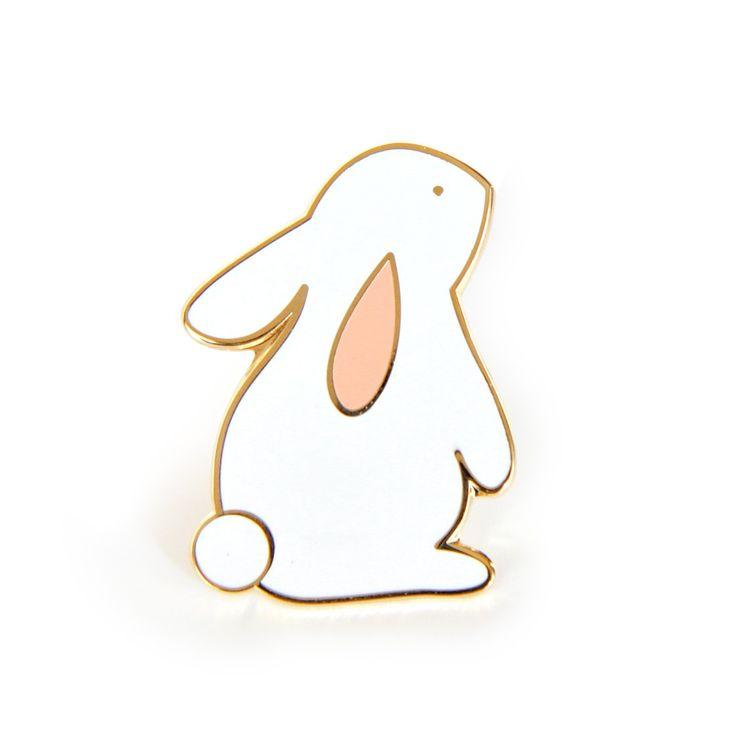Pin's Lapin Eugène (Rabbit Enamel Pin) | Zü – Boutique