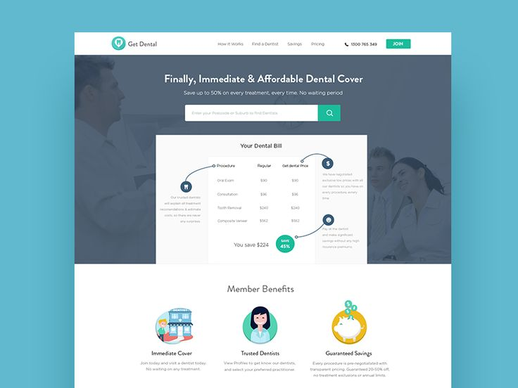 Landing page for Dental Website by Rashed