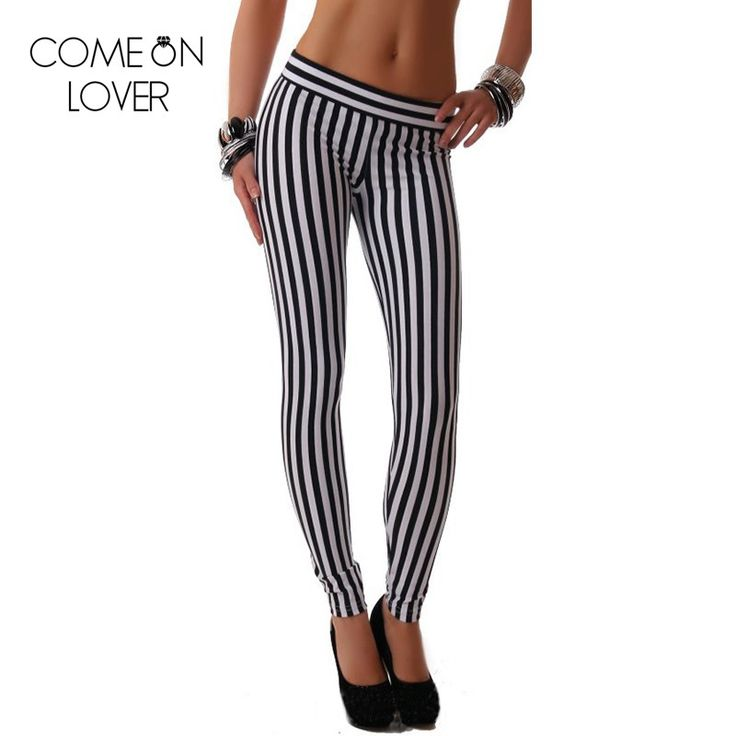 T2365 Comeonlover slimming body sexy workout leggings fashion trend women striped leggings most popular high quality leggins