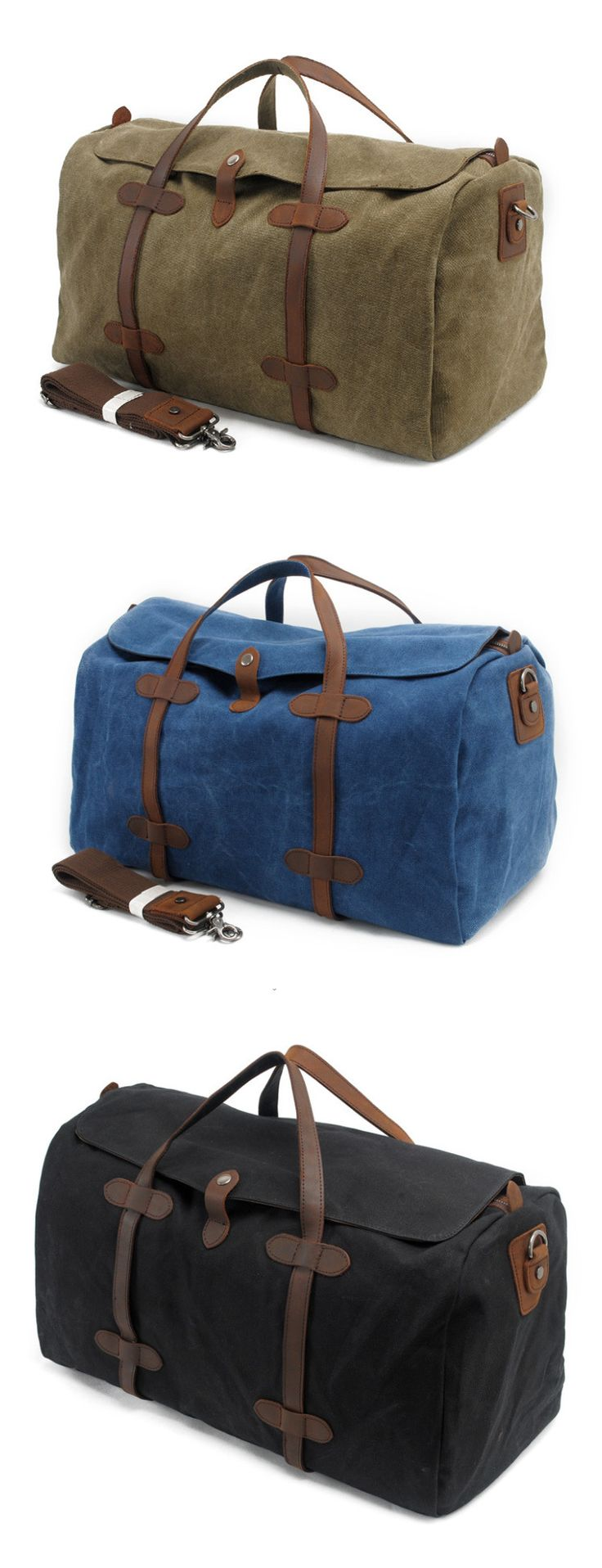 Waxed Canvas Travel Bag Duffle Bag Holdall with Leather Trim Features: • Fabric Lining • Inside zipper pocket • It can hold a 17'' laptop, iPad, A4 document files, magazines, etc. ********************