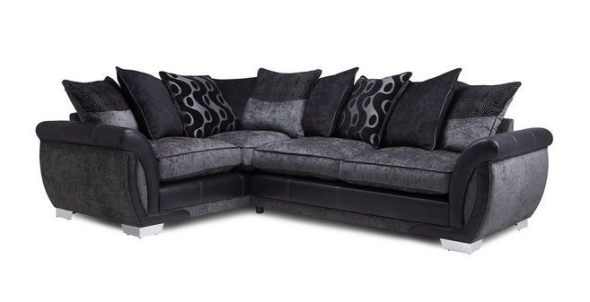 Amelle Right Hand Facing Pillow Back Deluxe Corner Sofa Bed Talia ...