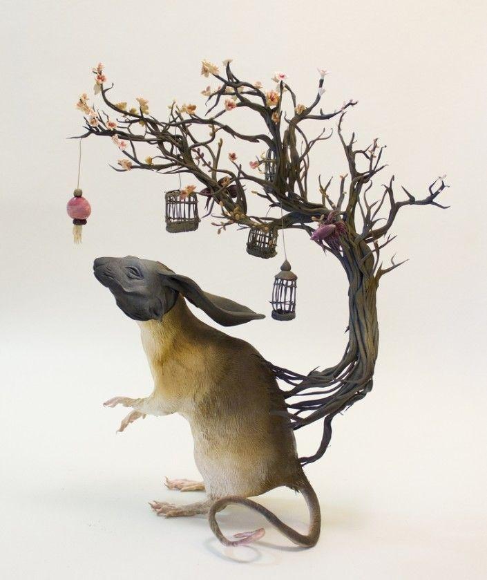 Best Ellen Jewett Masterpieces Images On Pinterest Art - Surreal animal plant sculptures ellen jewett