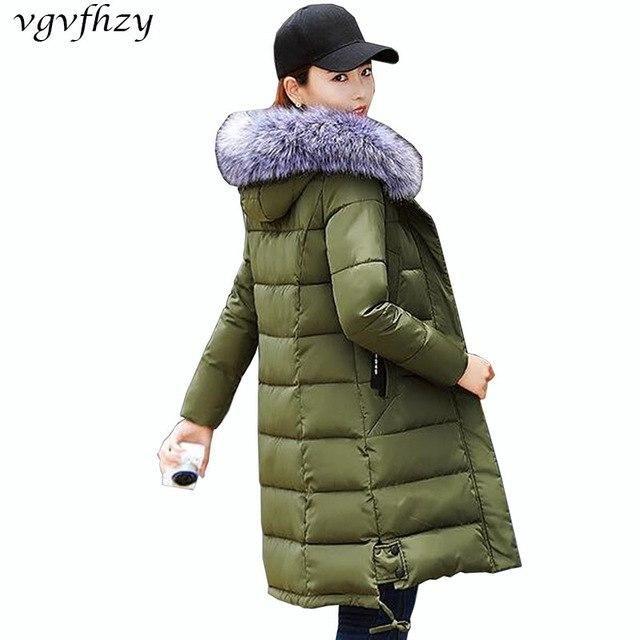 Winter Jacket Women 2017 New Cotton Jacket Long Sleeve Fur Collar Hooded Parka plus size Women Coat Fashion Casual Outerwear LY