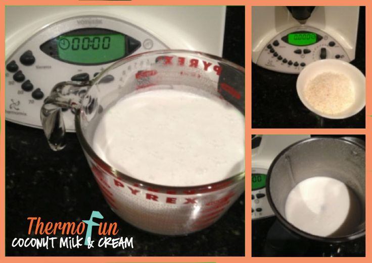 ThermoFun Everyday Basics Coconut Milk & Coconut Cream Recipe