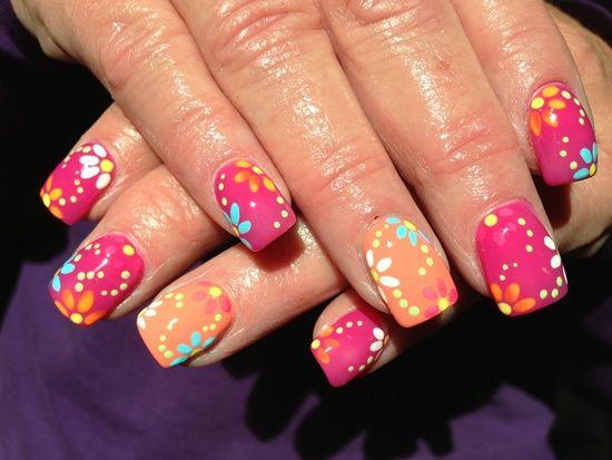 56 Flower Nail Art Designs For Inspiration