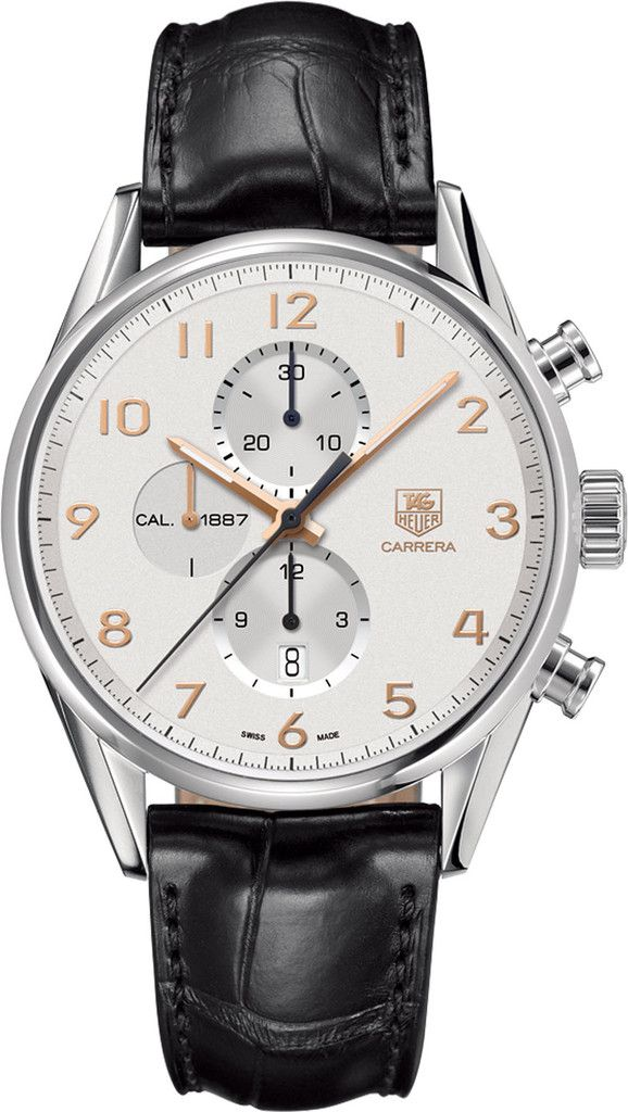 TAG Heuer Watch Carrera Chronograph #bezel-fixed #bracelet-strap-alligator…