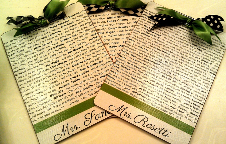 Customized Teacher Clipboard with Quotes from Students Great Gift Idea
