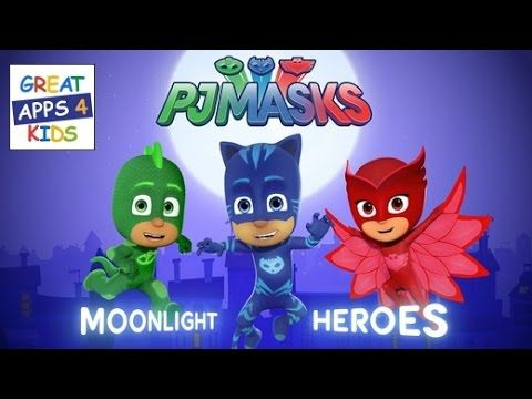 PJ Masks: Moonlight Heroes Game - Disney Junior App For Kids - HD Full G...