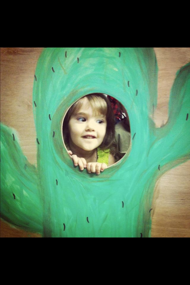 DIY cactus cutout, cowboys and Indian themed birthday party