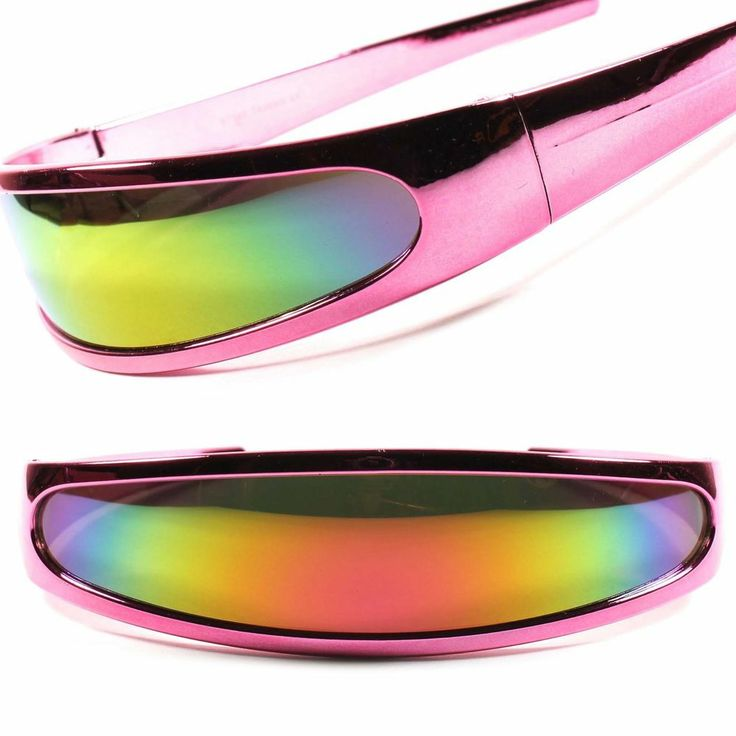 Robot Party Costume Alien Space Cyclops Pink Futuristic Novelty Sunglasses C15E #KISS #Futuristic