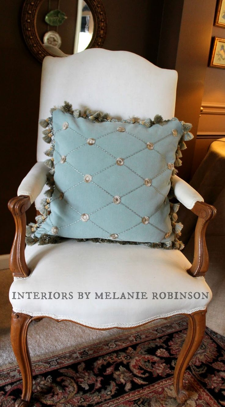 How to Make a Throw Pillow With Fringe ( aka Novice Sewing!! ) - The Painted Chandelier blog