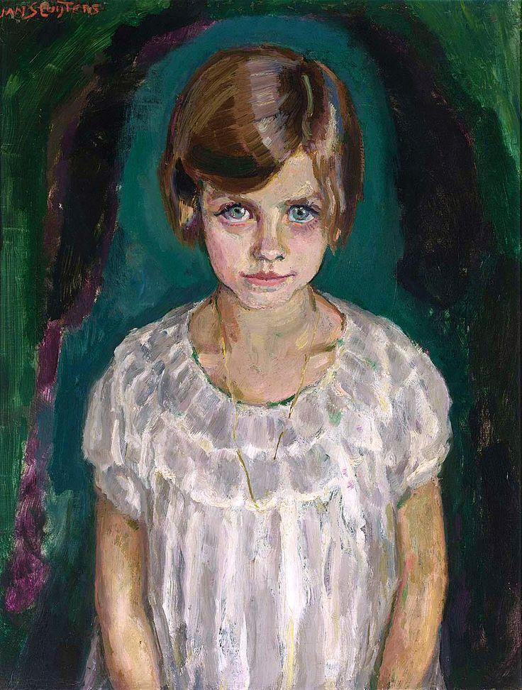 """Jan Sluijters, """"Portret van een meisje"""" (""""Portrait of a Girl"""")"""