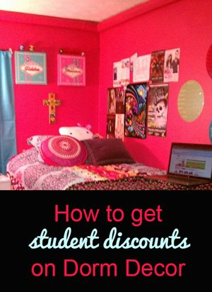 How to get student discounts on Dorm Decor <3 Cannot wait for next year to decorate my dorm room!!!