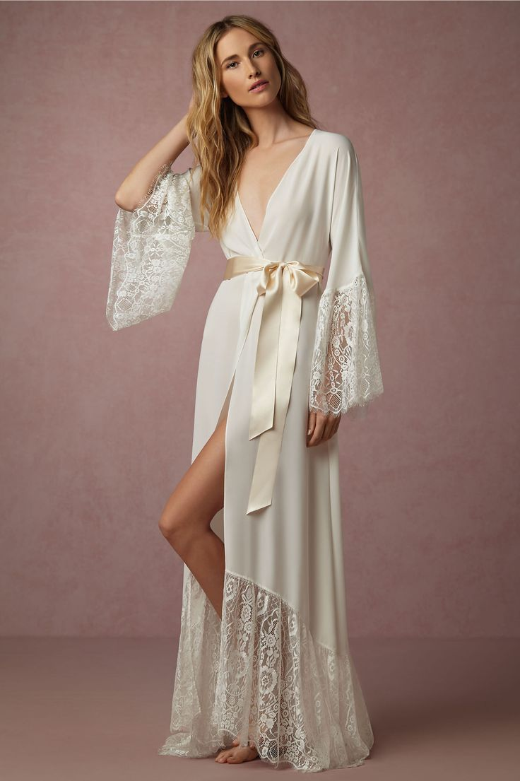 my favorite! BHLDN Queen Anne's Lace Robe in  Bride Bridal Lingerie at BHLDN in small
