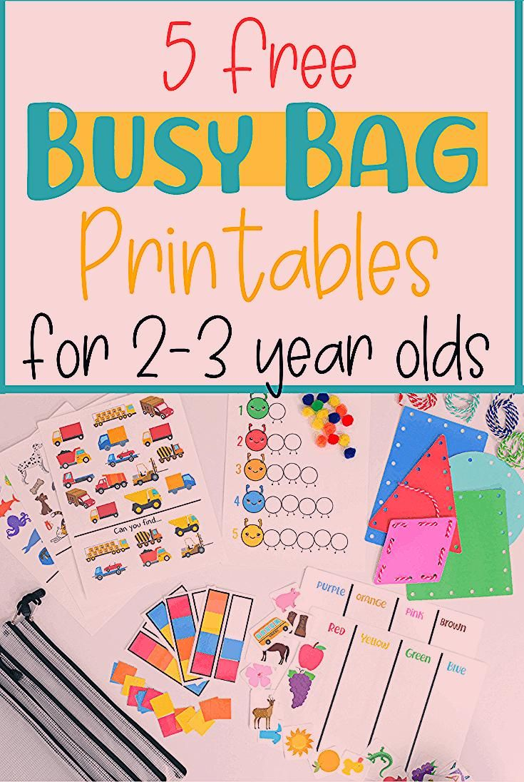 5 Free Busy Bag Printable Activities For Toddlers Educational