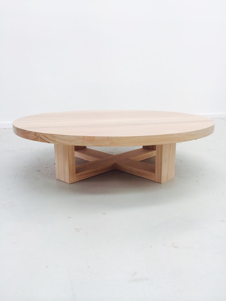 Our Orbit coffee table is so simple in design yet elegant and contemporary. Made to order with a variety of leg styles and finishes. MATERIALSSolid Blackbutt base and top. DIMENSIONS All tables made to order. The Orbit table can be made as