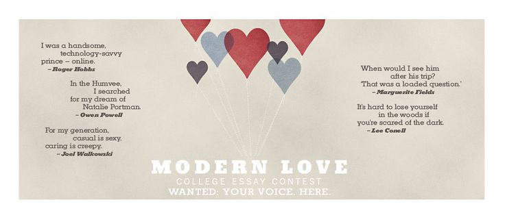 modern love essay Ny times modern love essay contest, and information about essay modern love college essay contest - the new york times 9 feb.