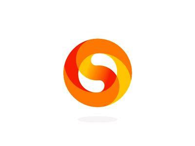 S circle monogram yin yang negative space logo design by alex tass