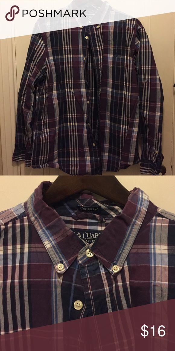 🔸Chaps NEW LISTING Great men's shirt beautiful blues/purples Chaps Shirts Casual Button Down Shirts