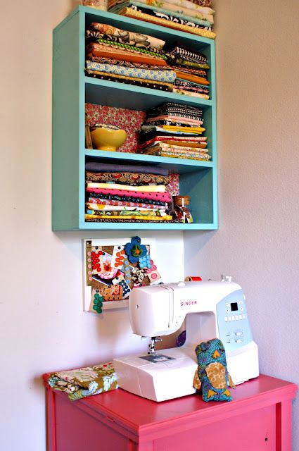 Nice to have the fabrics on display so you actually remember what you have!