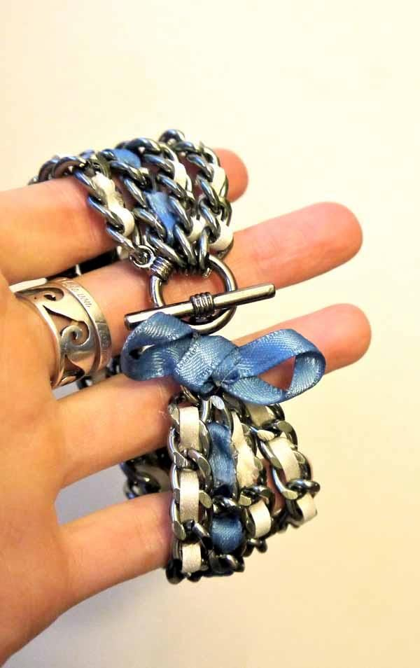 This is such a gorgeous ribbon bracelet! I can't believe it's hand made! https://www.retailpackaging.com/categories/74-everyday-specialty-ribbon #DIY #crafts #jewelry