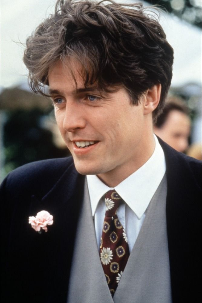 Four Weddings and a Funeral #CWFilmNight  classic movie hes such a cutie and look at his ruffled hair!