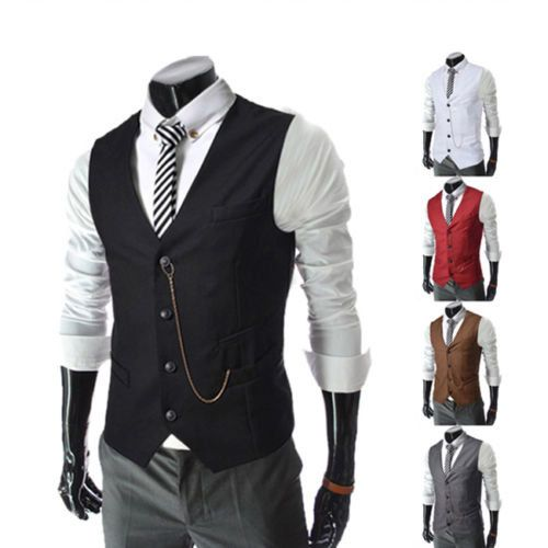 Formal Vest Men casual Waistcoat Vests Casual Jackets by TamoVest