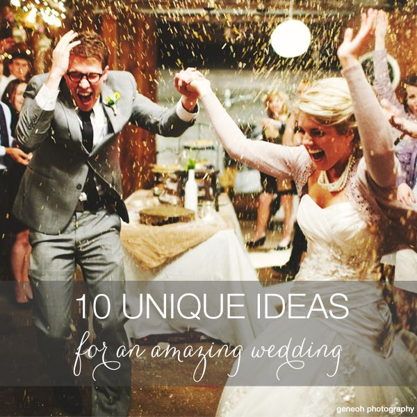 10 wedding ideas