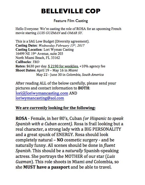 Casting Call Belleville Cop Speaking Role Casting Call