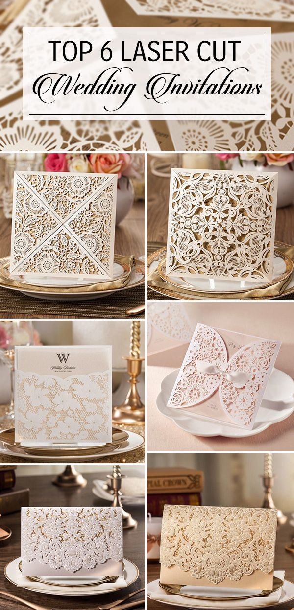 top 6 elegant laser cut wedding invitations 2015 trends