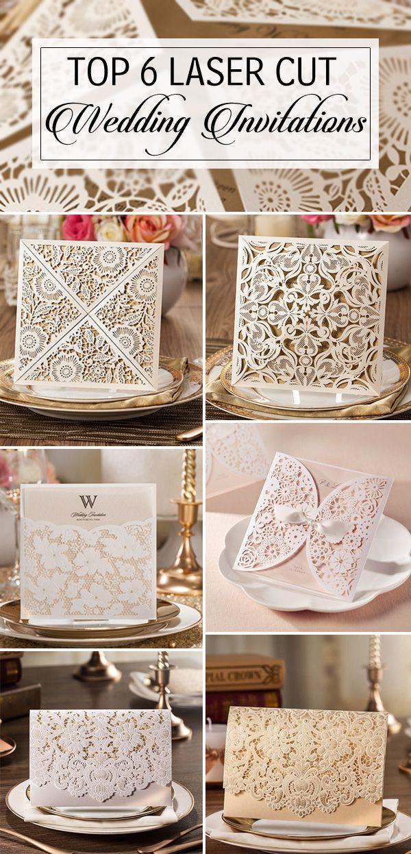 top 6 elegant laser cut wedding invitations 2015 trends