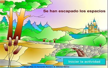 Tic para separar las palabras de una frase   Tambien en http://marife2.wordpress.com/category/lengua/lectoescritura/page/2/