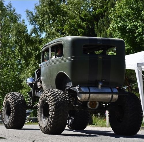 High ride rat rod. How it's done.